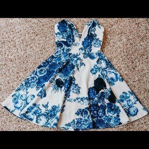 Lulu's floral strapless dress